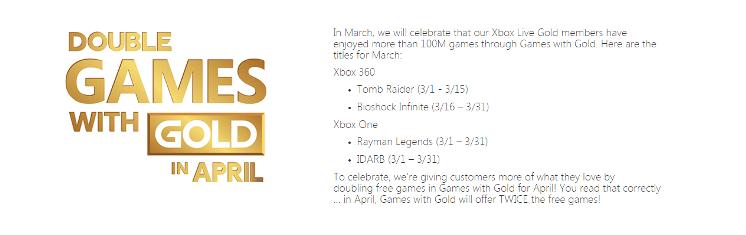 Anunciados los Games with Gold para Marzo de 2015
