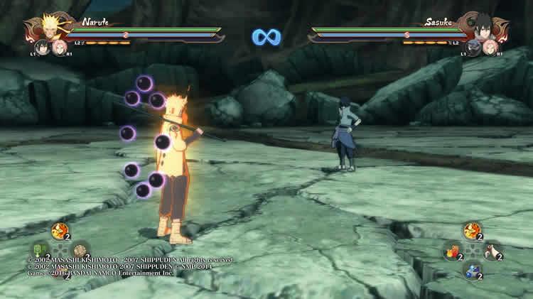 Naruto contra Sasuke en Naruto shippuden ultimate ninja storm 4