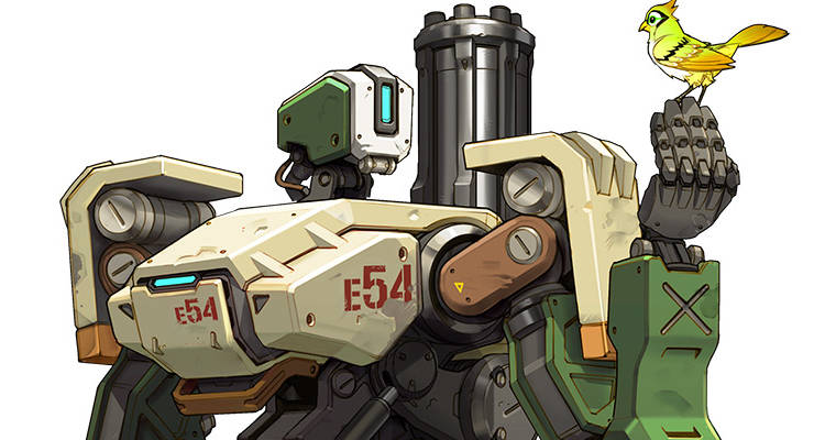 Overwatch 7 Bastion Artwork