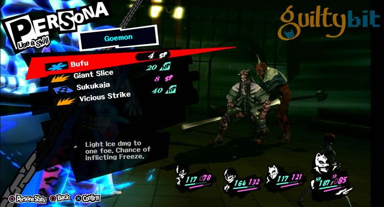 análisis de persona 5 combates