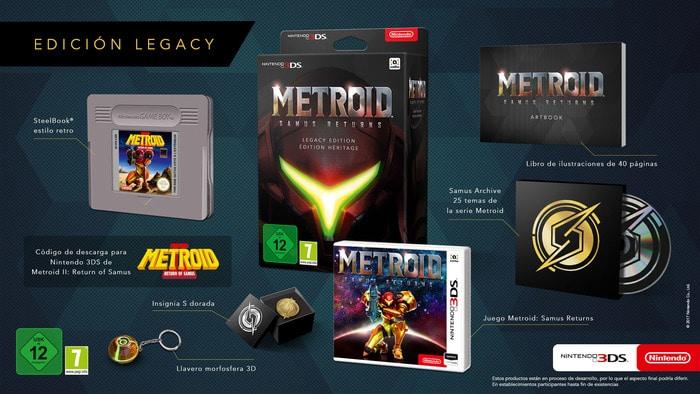 edición especial europea de Metroid: Samus Returns