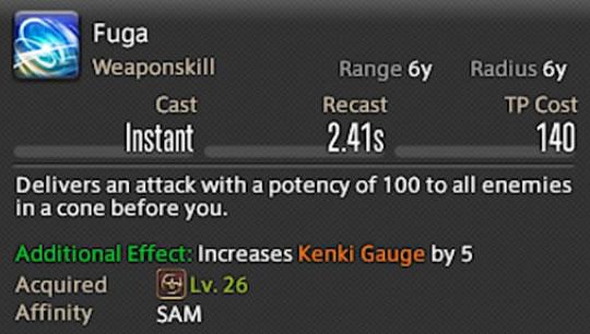 samurau fuga