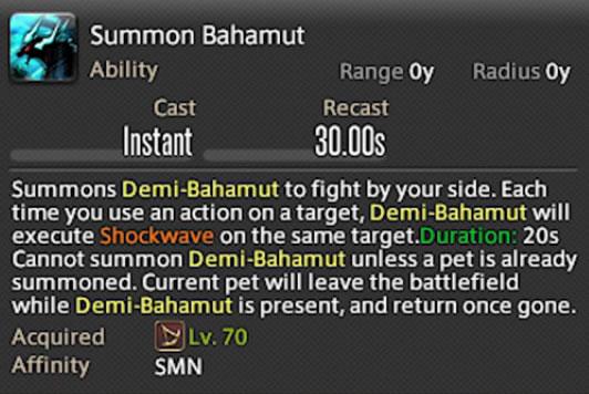 summon bahamut