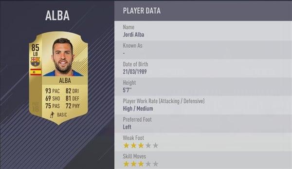 jugadores más rápidos de fifa 18