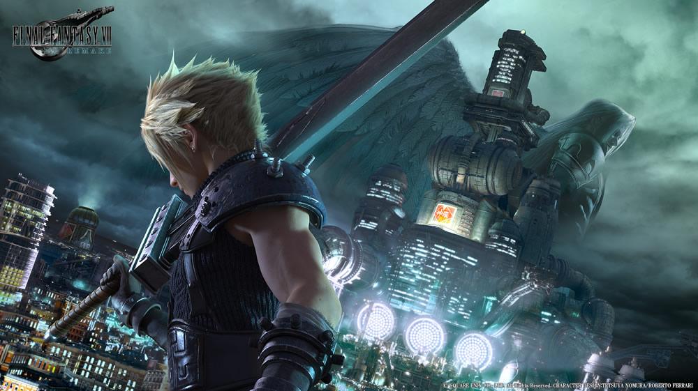 diseño de Cloud en Final Fantasy VII Remake