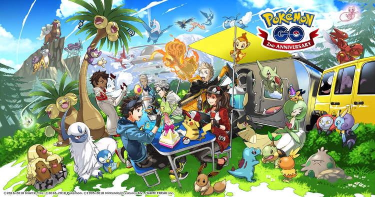 segundo aniversario de Pokemon GO
