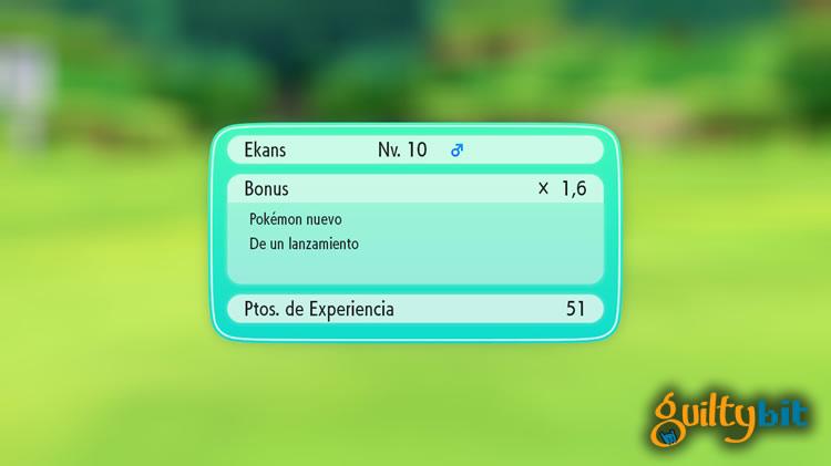 analisis de pokemon let's go experiencia