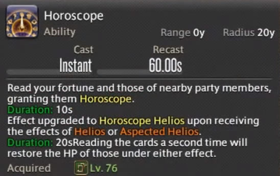 guia de final fantasy xiv shadowbringers del astrologo hosroscope