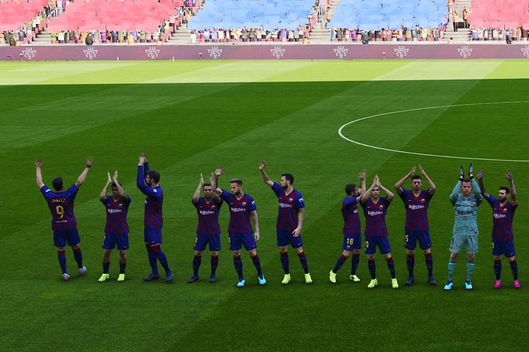 caras del F.C. Barcelona en eFootball PES 2020