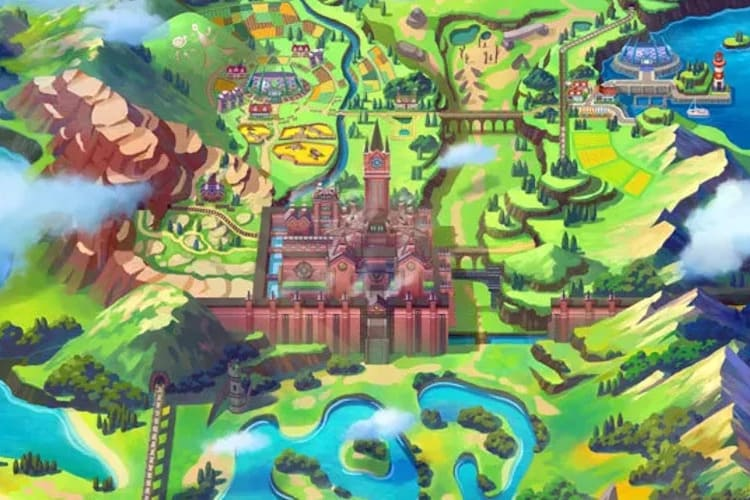 Mapa del Área Silvestre de Pokémon Espada y Escudo