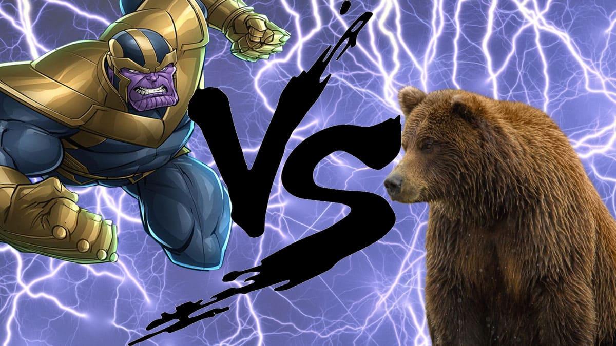 Círculo de la muerte: Thanos vs Oso
