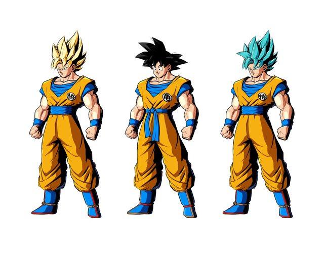 Llegan los nuevos colores anime de Son Goku en Dragon Ball FighterZ