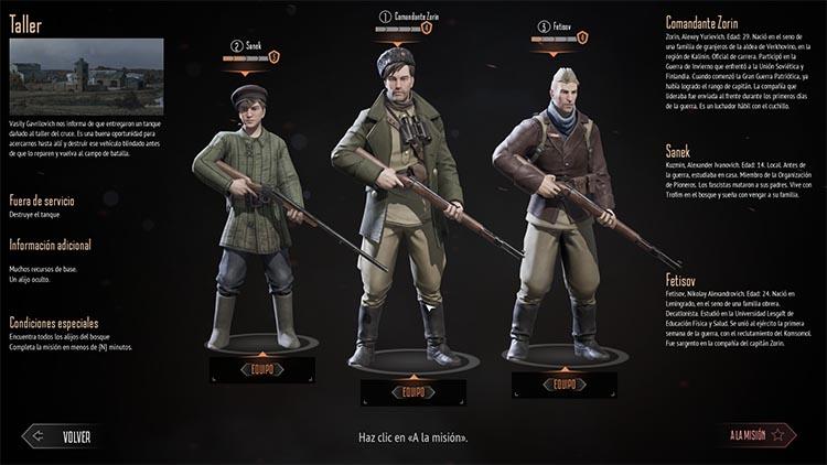 primeras impresiones de Partisans 1941