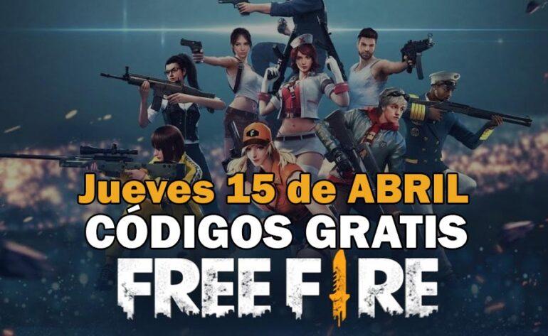 Códigos gratis Free Fire disponibles 15 de abril de 2021
