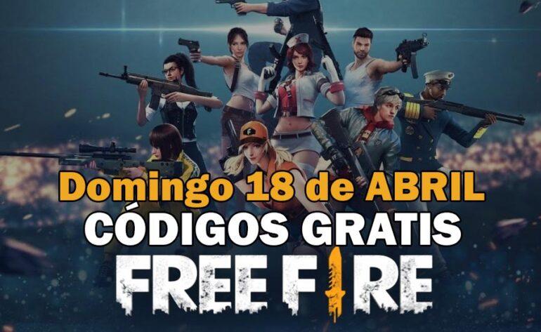 Códigos gratis Free Fire disponibles 18 de abril de 2021