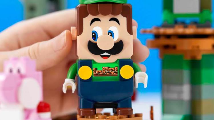 pack de lego luigi a lego supermario