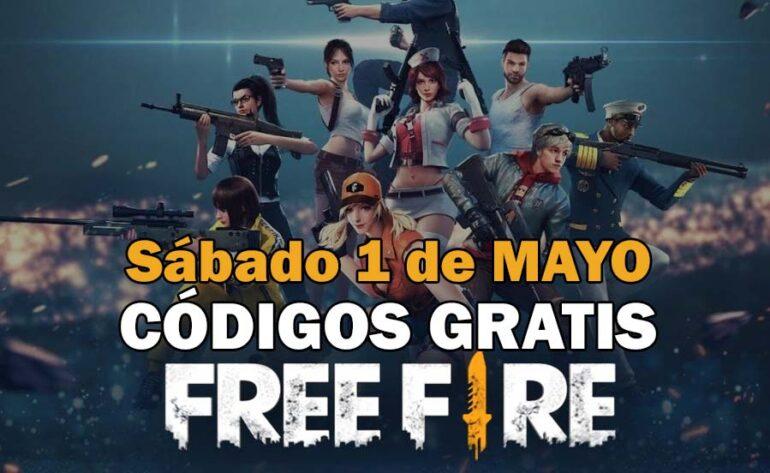 Free Fire códigos gratis 1 mayo 2021