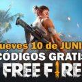 Códigos Free Fire gratis 10 de junio de 2021
