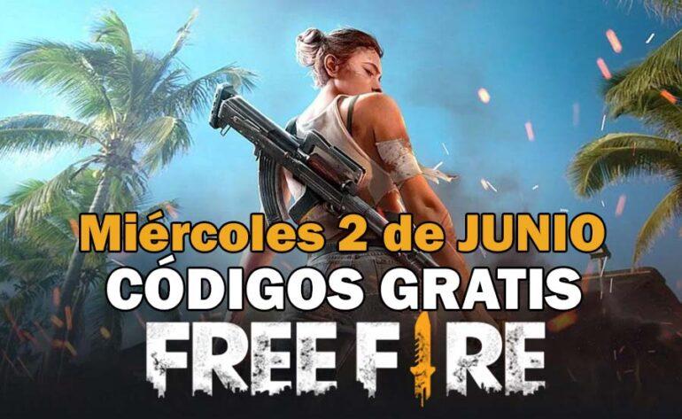 Free Fire códigos 2 de junio de 2021