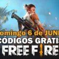 Códigos Free Fire gratis disponibles del 6 de junio de 2021