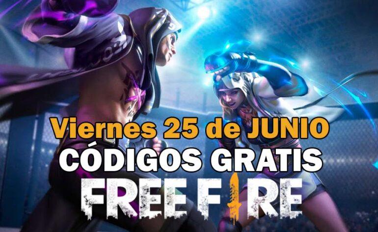 Free Fire códigos gratis disponibles del 25 de junio de 2021