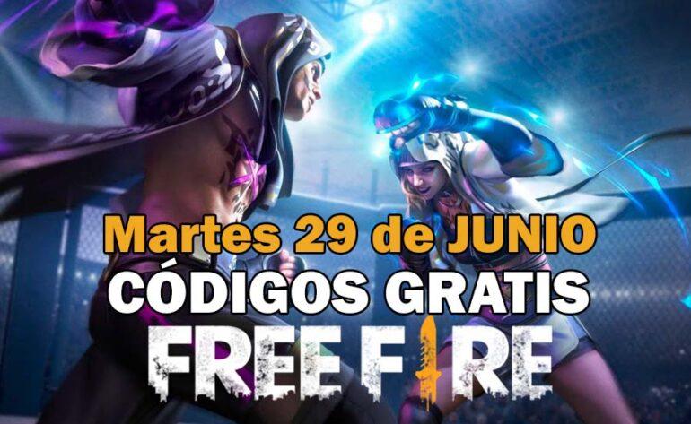 canjear Free Fire códigos gratis 29 junio 2021 codigo free fire