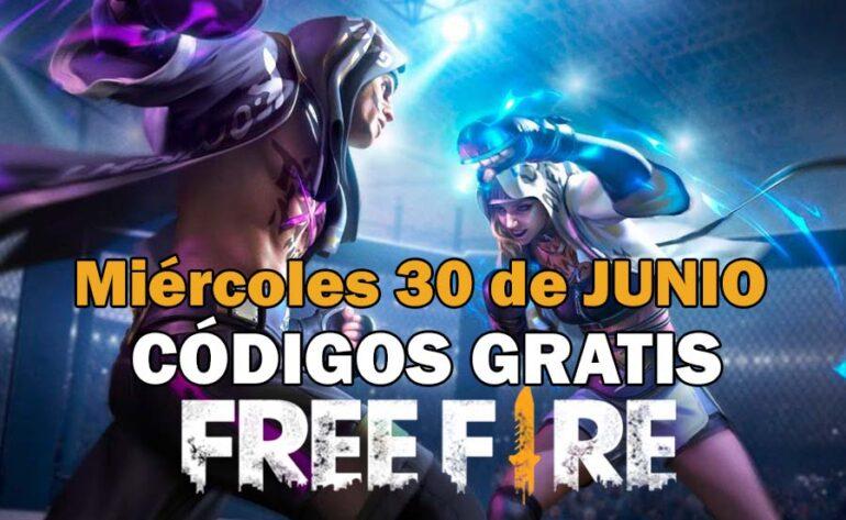 canjear Free Fire códigos gratis 30 junio 2021 codigo free fire