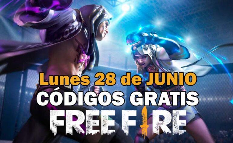 canjear códigos Free Fire 28 junio 2021 Free Fire código