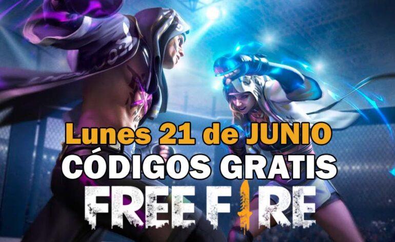 canjear códigos free fire lunes 21 junio 2021 código free fire