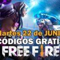 Free Fire códigos gratis disponibles del 22 de junio de 2021