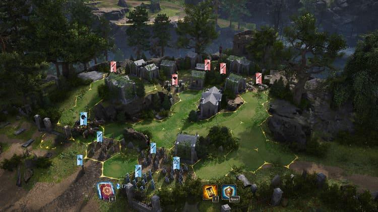 Impresiones de King's Bounty II batalla