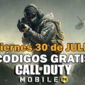 Códigos Call of Duty Mobile gratis 30 julio 2021