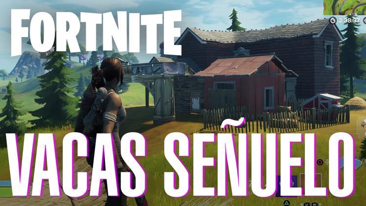 Coloca vacas señuelo - Fortnite Temporada 7 Semana 6