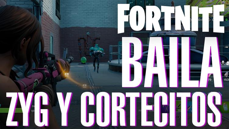 Fortnite Temporada 7 Semana 5 baila Zyg y Cortecitos