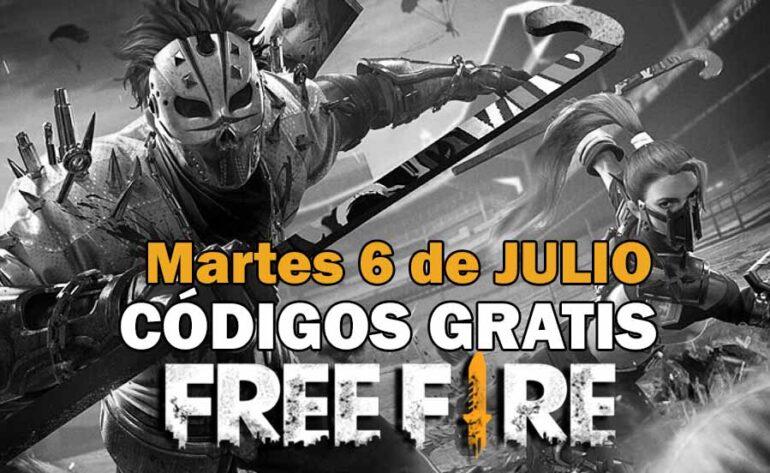 canjear Free Fire códigos gratis 6 julio 2021 codigo Free Fire