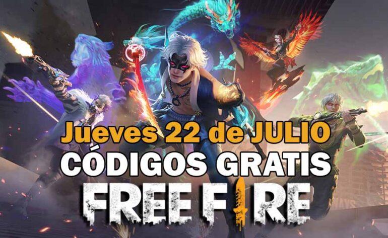 Canjear códigos Free Fire GRATIS del 22 de julio de 2021