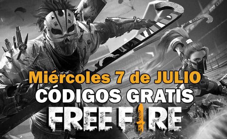 Códigos Free Fire gratis disponibles del 7 de julio de 2021