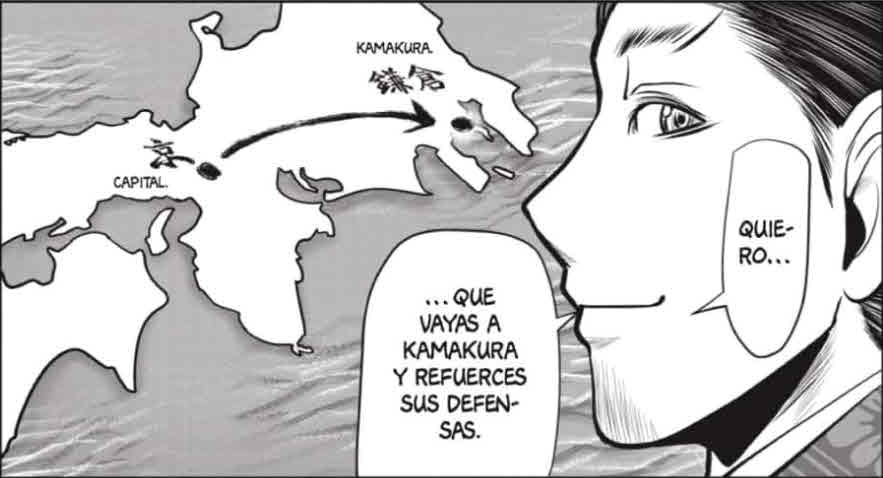 Manga Héroe Fugitivo 25, El poder divino de 1334